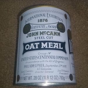 John McCann's Irish Oatmeal Tin